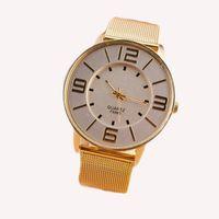 belt loop watch - Brand Gold Stainless Steel Mesh Strap Belt Watches Women Lady Dress Fashion Wrist Watch Quartz Double Loop Decoration Mujer Clock