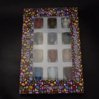 Ange Crafts12 pièces / boîte 40mm mixte de pierres précieuses taillées Ange cristal Figurines Ange pour Home Craft Chakra Pierres de guérison Reiki