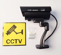 Wholesale Eliteguard Waterproof Outdoor Indoor Fake Security Dummy CCTV Camera with LED Light