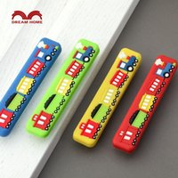 baby boy wardrobe - Children room small train safety handle cartoon soft red yellow blue green drawer wardrobe door Boy Baby Kindergarten