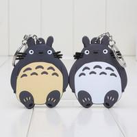 Wholesale 10pcs Anime My neighbor totoro figure Tonari no Totoro Keychains PVC Keychains Pendants styles can choose