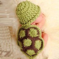 baby hand knit sets - NEW Hand Knitted Crochet Baby Crocheted Photography Prop Newborn Turtle Tortoise baby hat and cover set