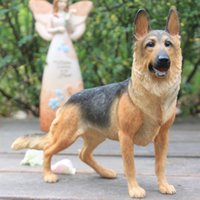 Wholesale German Shepherd Simulation Dog Figurine Crafts Carved Modern Arts Decoration Figurine Crafts with Resin for Collection