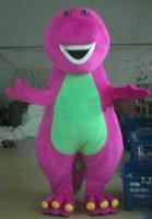 barney the dinosaur costume - Manufacturer direct selling high quality Barney the Dinosaur Adult Size Halloween Cartoon Mascot Costume Fancy Dress