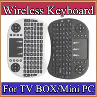 mini pc keyboard - 2016 Wireless Keyboard rii i8 keyboards Fly Air Mouse Multi Media Remote Control Touchpad Handheld for TV BOX Android Mini PC B FS