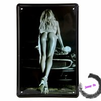 Signo de estaño Pin-up Girl Art Bar Pub Tavern Wall Decor Casa Café Bar Vintage Metal signos G67 20161005 #