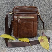 Wholesale Leather Brand Shoulder Handbags Vintage Men Messenger Bag Small Men s Travel Bag