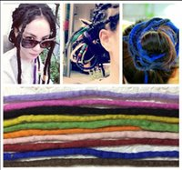african wigs wholesale - Africa Style Dreadlock Colorful Wigs Tangle Dreadlock African Hairpiece Fake Hair Accessories Plait Single Color Mixed Color
