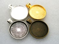 Wholesale 10pcs colors available Silver base mm base bezel cup charms pendant cameo frame setting diy Jewelry findings connector xd1233