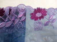 Wholesale New Cording Lace Trims Fabric Violet Embroidery Printing Nylon Mesh Width quot Spandex African Fabrics For Cocktail Wedding Dress JIAOLUN