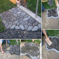 Wholesale DIY Plastic Garden Path Maker Mold Manually Paving Cement Brick Mould