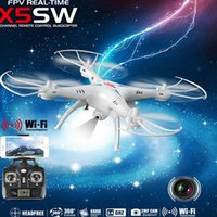 Wholesale USA Drones SYMA X5SW CH RC Drone FPV Helicopter Quadcopter with HD Camera G Axis Real Time RC Helicopter Toy