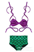 Wholesale 2016 Hot Selling Siamese Mermaid Cleavage Mermaid The Mermaid Swimming Swimsuit Swimwear Three Piece Children s Swimwear Girls
