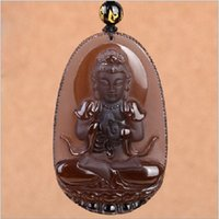 animal pens monkey - Opening The Light Natural Ice Matting Black Obsidian Will Day Buddha Pendeloque Cut The Chinese Zodiac Sheep Monkey Basis Life Of Buddha Pen