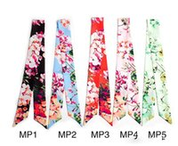 Wholesale New arrival Floral many colors fashion twilly scarf handbag handle decoration accessories handbag twilly brand bow hair bands scarves