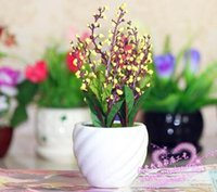 accessories tabletop decorations - New Products Small pot Simulation pot with Artificial flower Mini desk furnishings Countryside Decoration Home accessories