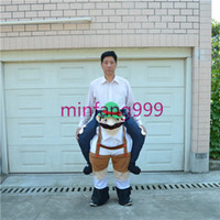 Wholesale NEW Moustache Teddy Bear Stuffed Ride On Me Stag Mascot Carry me Piggy Back Fancy Dress Costume