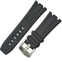 band g - mm new high quality stainless steel Silver buckle black diving silicone rubber watch band strap G AP38