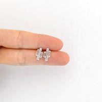 best friends cute - Zinc alloy super cute little charm fashion jewellery cactus earrings women s best friend gift wedding accessories