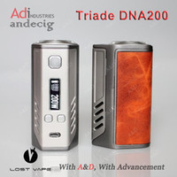 Wholesale Authentic Lost Vape Triade DNA200 TC BOX MOD Evolv DNA Chip FOR Limitelss RDTA PLUS Hcigar Maze RDA Wotofo Serpent Mini