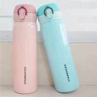 Wholesale 4 Colors Starbucks Thermos CUP Vacuum Flasks Thermos Stainless Steel Insulated Thermos Cup Coffee Mug Travel Drink Bottle