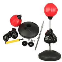 Wholesale Kids Speed Workout Kicking Bag Youth Boxing Set Gloves Punching Training Gym