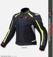 Wholesale KOMINE JK autumn Summer zipper pull with mesh racing jackets motorcycle automobile race titanium clothing