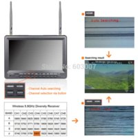 Wholesale FEELWORLD no blue screen inch fpv monitor built in dual receiver and battery fpv microphone