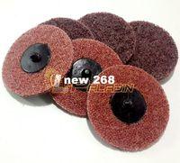 Wholesale 100 pieces quot Premium Quality Red Roloc Scour Quick Change Sanding Disc Fine to Coarse Surface Conditioning Disc