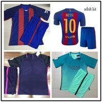 barcelona iniesta jersey - 8 A Iniesta Suarez Messi Neymar JR Barcelona Home Away Third Custom Shirt Cheap jerseys Set uniforms kit