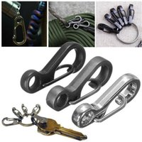 big clip rings - In business CARABINER FOR CLIMBING Mini Useful Stainless Steel Split Keychain Key Ring Clasps Clips Hook Carabiner