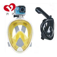 Lunettes de plongée GoPro masque intégral des lunettes de plongée conviennent équipement de plongée tout sec respiration piscine tube