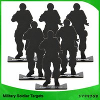 shooting targets - tactical a pack airsoft hunting gun accessories iron metal soldier model shooting targets for hunting black