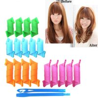 Wholesale Plastic Hair Rollers Rollers Hooks Diy Magic Hair Curler Rollers Pear Head Styling Plastic Hair Curlers