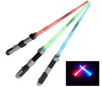 Wholesale Star wars sword lightsabers extendable laser lightsabers LED light colorful lightsaber plastic sword cosplay star wars lightsaber