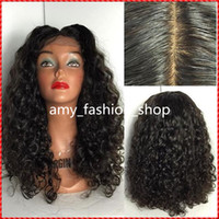 big malaysia - Malaysia Curly indian remy human hair full lace wigs lace front wigs