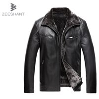 pelle pelle jackets - Fall Jaqueta De Couro Masculina Men Leather Jacket Fur Coat Middle aged Leather Pu Jacket Coat Stand Collar XL Giacca Pelle Uomo