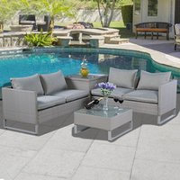 Wholesale All Weather Outdoor Furniture Garden Furniture Sofa Set New Style Rattan wicker Sofa Outdoor Rattan Sofa Set Garden Furniture Sofa Set