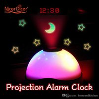 Wholesale Magic Alarm Clock Sveglia LED Digital Projection Colorful Star Night Luminova Electronic Desk Table Reveil Klok Clock For Kids