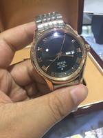 2016 nouveau style de luxe Vintage marque hommes en acier inoxydable échelle romaine montre Automatique mouvement mécanique mens montre bracelet noir montre-bracelet