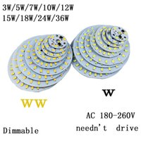 SMD aluminum sources - 220v led plate Source W W W w W W W w w integrated IC driver SMD Cold Warm White aluminum pcb