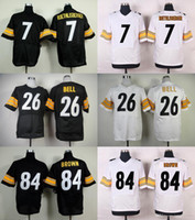 Wholesale 2016 Elite Mens Jerseys Antonio Brown Ben Roethlisberger Le Veon Bell Home Stitched Jerseys Free Drop Shipping