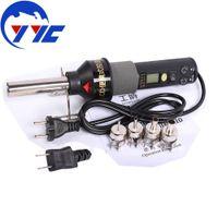 Cheap 220V 450W Degree LCD Adjustable Electronic Heat Hot Air Gun Desoldering Soldering Station IC SMD BGA Rework 4 Nozzle 8018LCD