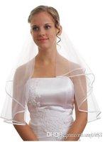 Wholesale female wedding veil T quot ribbons VC4 edge