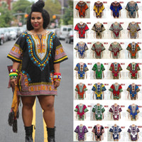 hippie clothing - 100P African Dashiki Dresses For Women Men African Clothes Hippie Shirt Caftan Vintage Unisex Tribal Mexican Top Bazin Riche Ethnic Clothing
