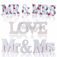 Wholesale 3 Models Wooden Letters Wedding Table Decoration Mr Mrs LOVE MR MRS Freestanding Letters Wedding Decorative