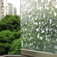 Wholesale 3D Static Cling Removable Window Film Stained Pebble Glass Sticker Bathroom Slide Door x100cm Gift