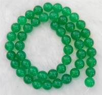 Wholesale 8mm Natural Green Jade Round Gemstone Loose Beads quot Strand AAA