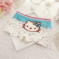 Wholesale Cute Hallo Kitty Panties Cartoon Kids Underwear for Girls Children Baby Shorts Kids Briefs