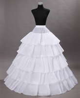 adult petticoats - 2016 Adult High Quality Layers Four Hoops A Line Floor Length Wedding Dress Crinoline Petticoat Underskirt Wedding Accessories